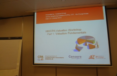 CENSERE CONDUCTED WORKSHOPS FOR HKICPA